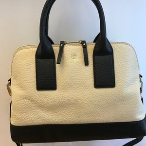 Kate Spade Buttermilk and Black  Southport Satchel